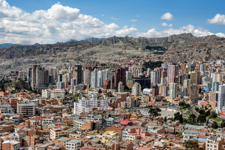 Panoramic view of La Paz, Bolivia Editorial