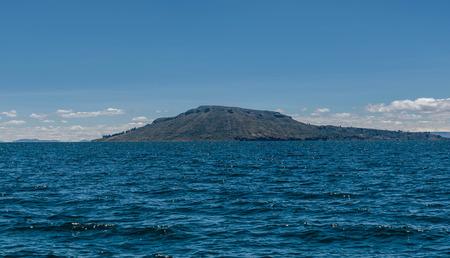 Titicaca lake at Puno, Peru Stock Photo