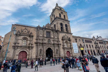 San Francisco Museum in La Paz, Bolivia Editorial