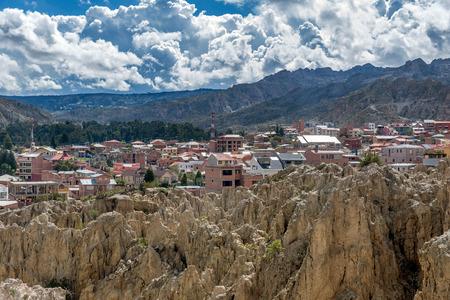 Moon Valley ( Valle de la Luna) in La Paz, Bolivia