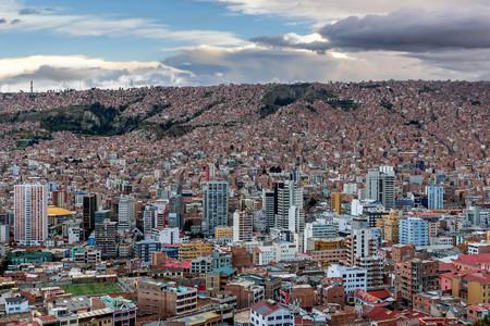 Panoramic view of La Paz, Bolivia Editorial