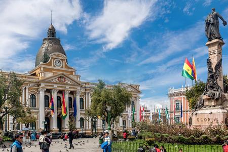 murillo: Plaza Murillo in La Paz, Bolivia Editorial
