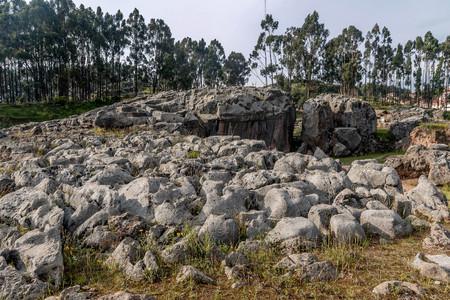 쿠스코, 페루 15 세기에서 Saksaywaman 잉카 요새의 유산 사이트 스톡 콘텐츠