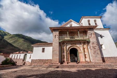 San Pedro Apostol Church in Andahuaylillas, Cusco Editorial