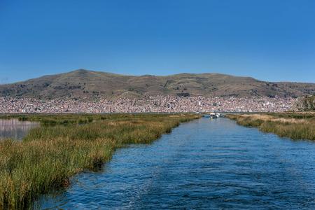 View of Puno by Titicaca lake, Peru