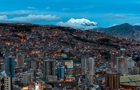 Panoramic view of La Paz, Bolivia Standard-Bild