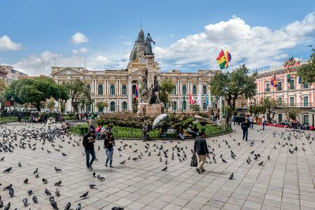 Plaza Murillo in La Paz, Bolivia Editorial