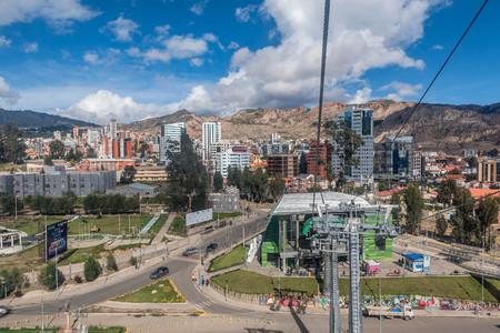 Cable cars in La Paz, Bolivia