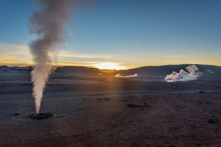 hellish: Geyser in natural reserveEduardo Avoroa, Bolivia Stock Photo