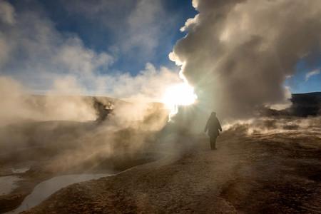 avaroa: Geyser in natural reserveEduardo Avoroa, Bolivia Stock Photo