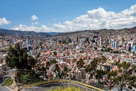 Panoramic view of La Paz, Bolivia Stock Photo
