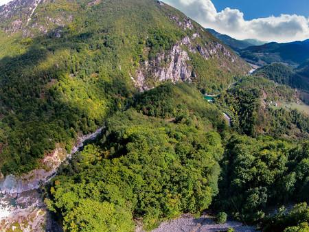 Canyon of the Moraca river. Montenegro Stock Photo