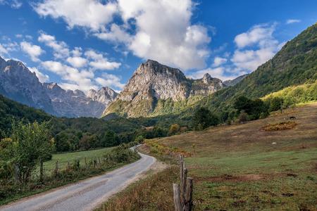 Grbaja valley in Prokletije National Park, Montenegro 写真素材