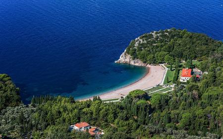 Queens Beach in Milocer, Montenegro