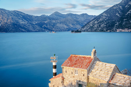 Church of Our Lady of Angels in Verige, Kotor, Montenegro Stock Photo