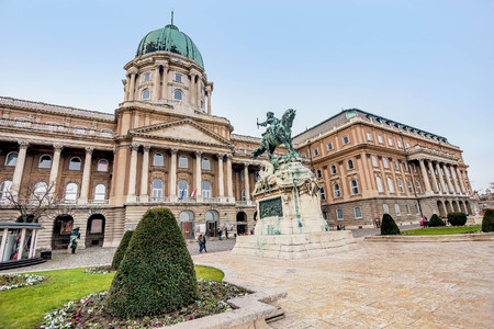 Budapest, Hungary- January 9, 2018: The Hungarian National Gallery at Buda Castle, Budapest, Hungary Editorial