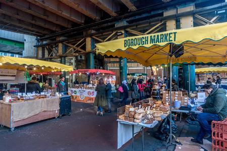 London, UK- January 10, 2018:Borough Market in London, United Kingdom