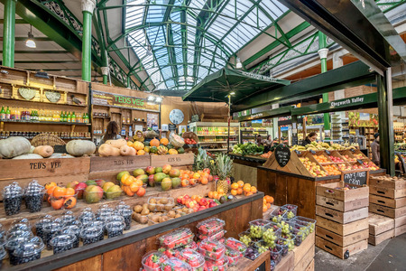 London, UK- January 10, 2018:Borough Market in London, United Kingdom