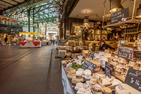 London, UK- January 10, 2018:Borough Market in London, United Kingdom Sajtókép