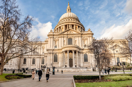 London, UK- January 10, 2018:View of Saint Pauls Cathedral in London, UK