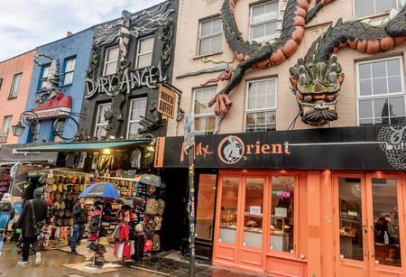 London, UK- January 11, 2018:Main street in Camden, London Editorial