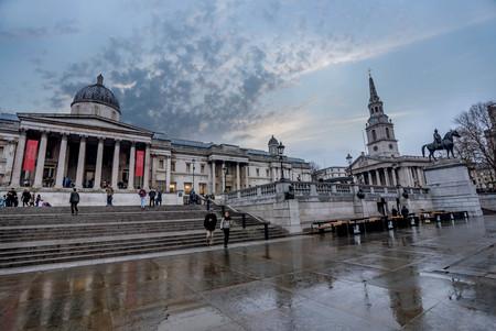 London, UK- January 11, 2018:The National Gallery in Trafalgar Square in London