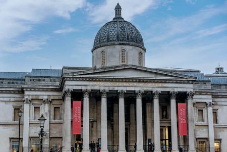 London, UK- January 11, 2018: The National Gallery in Trafalgar Square in London