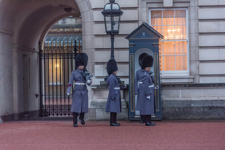 London, UK- January 11, 2018: Changing of the Guard at Buckingam Palace, London