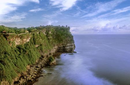 Nusa Dua Uluwatu with beautiful cliffs and beaches in Bali, Indonesia
