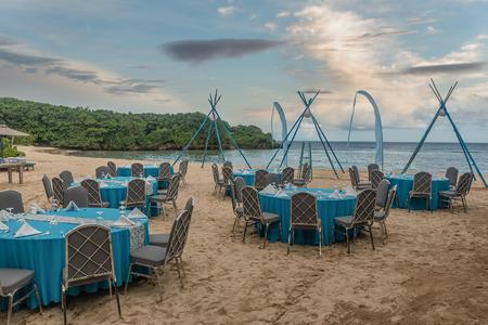 Sand beach near Nusa Dua in Bali, Indonesia