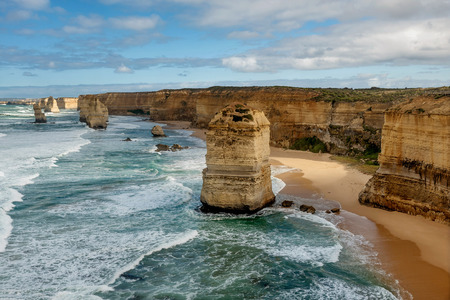 Gibson steps and the twelve apostoles along great ocean road in Australia Stock Photo