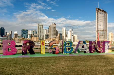 Letras de firmar en Brisbane, South Bank Parkland, Australia