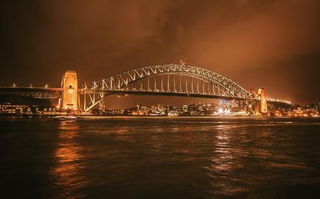 Bridge in Sydney at night, Australia Stock Photo