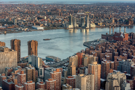 Aerial view of New York City skyline