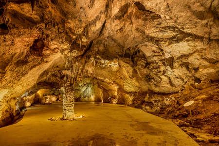 Cetinje, Montenegro- November 18, 2018: Lipa Cave ( Lipska pecina) in Cetinje, Montenegro Redakční