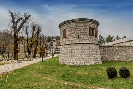 Cetinje, Montenegro- November 18, 2018: Monastery of the Nativity of the Blessed Virgin Mary in Cetinje, Montenegro
