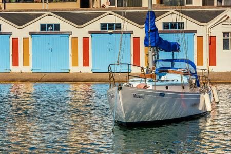 Wellington, New Zealand- March 28, 2018: Wellington city marina with boats and yachts, New Zealand