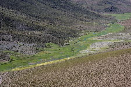 Landscape of the Valley in Salar de Uyuni, Bolivia Stock Photo