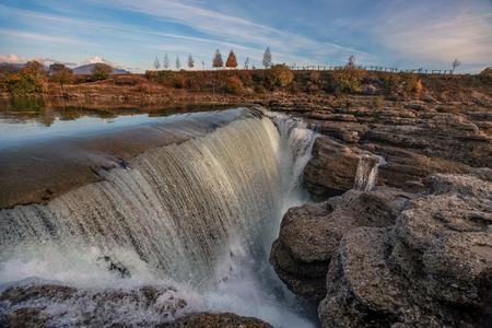 Niagara Waterfall on the river Cijevna near Podgorica, Montenegro