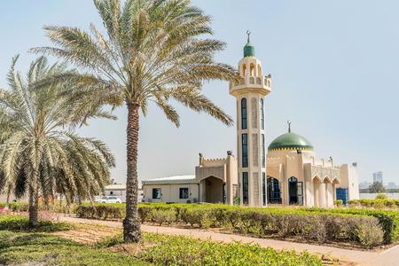 Mosque Jamia in Abu Dhabi, United Arab Emirates