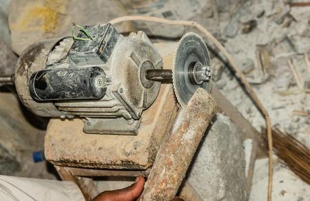 Manually improvisation of circular saw cutting blade in Kenya