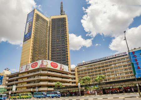 Nairobi, Kenya- March 5, 2016:Teleposta Towers in Nairobi city, Kenya