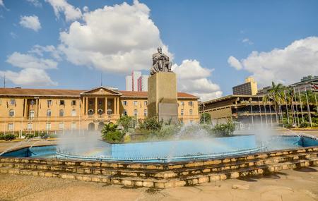 Nairobi, Kenya- March 5, 2016:Jomo Kenyatta Statue by James Butler,near Kenyatta International Centre in Nairobi, Kenya Editorial