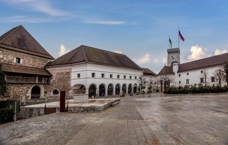 Castle in the old town of Ljubljana, Slovenia Editorial