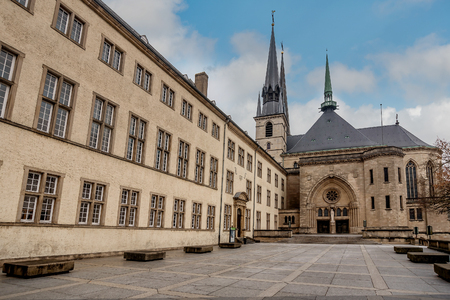 Notre-Dame Cathedral in Luxembourg, Luxembourg Stockfoto