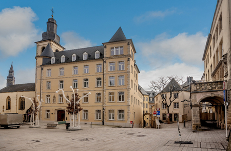 Luxembourg, Luxembourg- January 10, 2019:View at the church of Saint Alphonse in Luxembourg City, Luxembourg