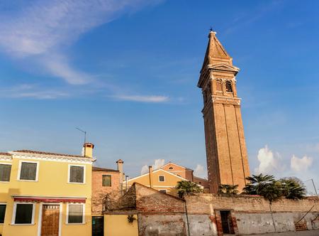 Church of San Martino on the island of Burano near Venice, Italy