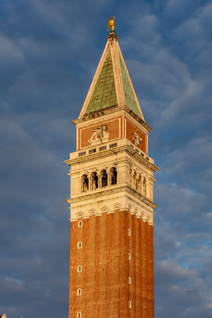 View of St Marks Campanile  at Piazzetta San Marco in Venice, Italy