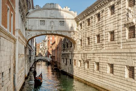 Venice, Italy- January 20, 2019: Bridge of Sighs (Ponte dei Sospiri) in Venice , Italy
