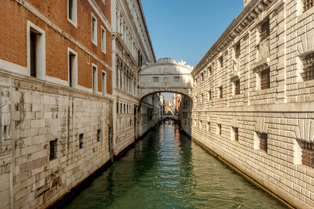 Bridge of Sighs (Ponte dei Sospiri) in Venice , Italy